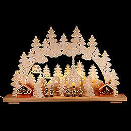 Schwibbogen Weihnachtsmarkt - 70x42 cm