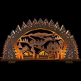 Schwibbogen Weihnachtsmarkt in Seiffen - 72x41 cm