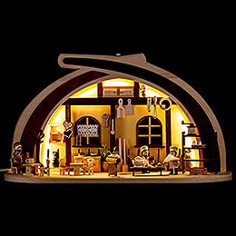 Schwibbogen aus Massivholz Cafeteria - 45x30 cm