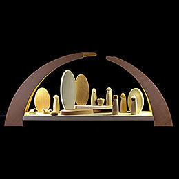 Schwibbogen mit Krippenfiguren - 62x25 cm
