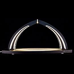 Schwibbogen modern wood BLACK LINE - ohne Bestückung - 41x20 cm