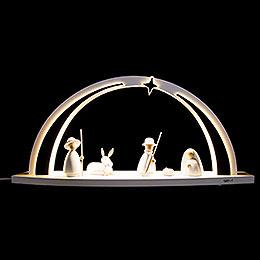 Schwibbogen modern wood WHITE LINE Christi Geburt - 57x26x10 cm