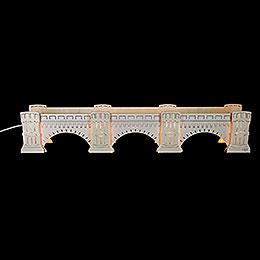Schwibbogenerhöhung Augustusbrücke, beleuchtet - 72x13x11,5 cm