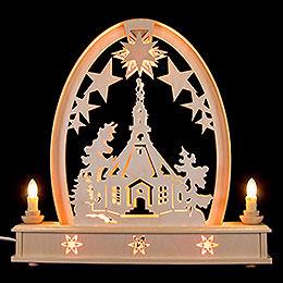 Seidelbogen Seiffener Kirche - 36 cmx37 cm
