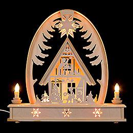 Seidelbogen Weihnachtshaus - 36 cmx37 cm