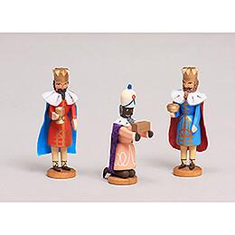 Seiffen Nativity - Three Magis - 3 pieces - 8 cm / 3.1 inch