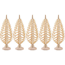 Seiffen Wood Chip Tree Set of 5 - 5 cm / 2 inch