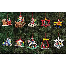 Set Christbaumschmuck Weihnachtsmänner