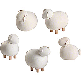 Sheep - 5 pieces - 3,5 cm / 1.4 inch
