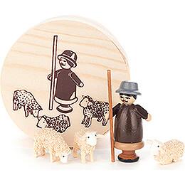 Shepherd in Wood Chip Box - 4 cm / 1.6 inch