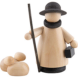 Shepherd with Sheep Natural/Anthracite - Mini - 5,0 cm / 2.0 inch
