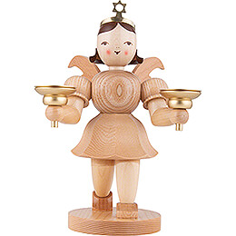 Shortskirt Angel Natural, with Candle Holder - 20 cm / 7.8 inch