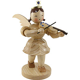 Shortskirt Angel Natural with Violin and SWAROVKSI ELEMENTS - 20 cm / 7.8 inch
