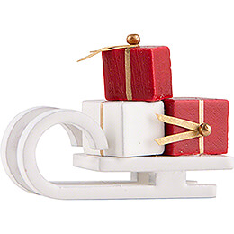 Sleigh with Presents - white - Edition Flade & Friends - 2,5 cm / 1 inch