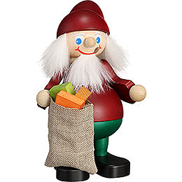 Smoker - Christmas Heinzel with Sack - 15 cm / 5.9 inch