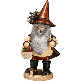 Smoker - Forest Gnome Mushroom Picker, Natural - 25 cm / 10 inch