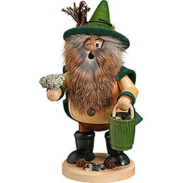 Smoker - Forest Gnome Ore Gatherer, Green - 25 cm / 9.8 inch