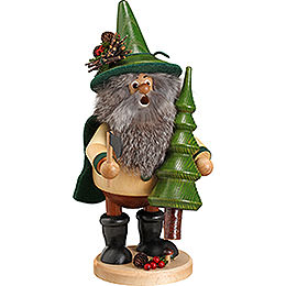 Smoker - Forest Gnome Tree Thief, Green - 25 cm / 10 inch