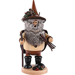 Smoker - Forest Gnome Wood Collector, Natural - 25 cm / 10 inch