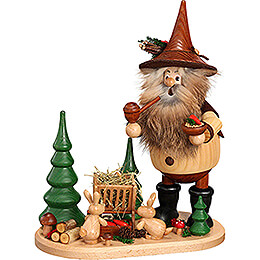 Smoker - Forest Gnome on Board Manger - 26 cm / 10.2 inch