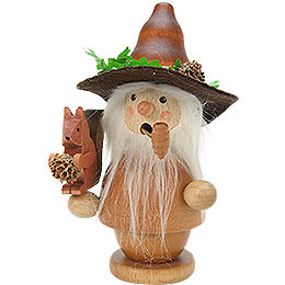 Smoker - Forest Man with Squirrel Natural Colors - 14,0 cm / 6 inch