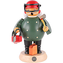Smoker - Forest Worker with Saw - 18 cm / 7 inch