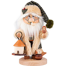Smoker - Gnome Santa Claus Bird Feeding - 29,5 cm / 11.6 inch