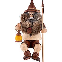 Smoker - Gnome Watchman, sitting - 25 cm / 9.8 inch