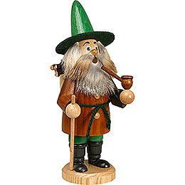 Smoker - Gnome Wood Gatherer, Brown - 22 cm / 9 inch