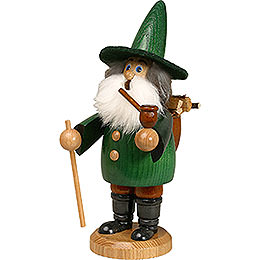 Smoker - Gnome Wood Gatherer Green - 19 cm / 7 inch