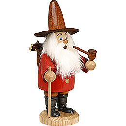 Smoker - Gnome Wood Gatherer Red - 19 cm / 7 inch