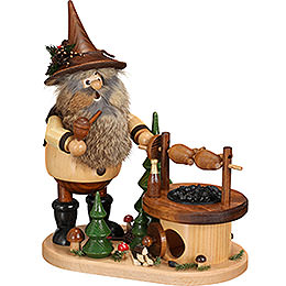 Smoker - Gnome at the Turning Barbecue - 26 cm / 10.2 inch