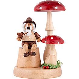 Smoker - Gnome beneath Toadstool - 16 cm / 6.3 inch