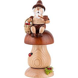 Smoker - Gnome on Brown Mushroom - 17 cm / 6.7 inch