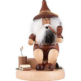 Smoker - Gnome with Chopping Block - 16 cm / 6.3 inch