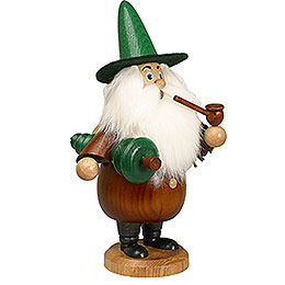 Smoker - Gnome with Tree Brown - 19 cm / 7 inch