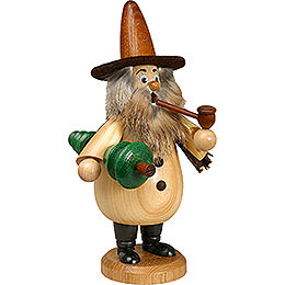 Smoker - Gnome with Tree Natural Colors - 19 cm / 7 inch