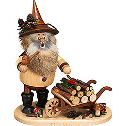 Smoker - Gnome with Wheel Barrow - 25 cm / 9.8 inch