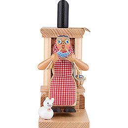 Smoker - Grandma at Tiled Stove - Green - 21 cm / 8.3 inch