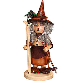 Smoker - Lady Gnome Skier - 25 cm / 9.8 inch