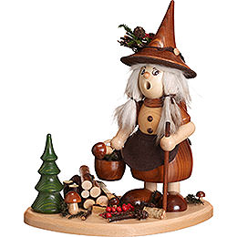 Smoker - Lady Gnome on Board, Natural - 25 cm / 10 inch