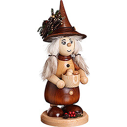 Smoker - Lady Gnome with Dumplings - 25 cm / 9.8 inch