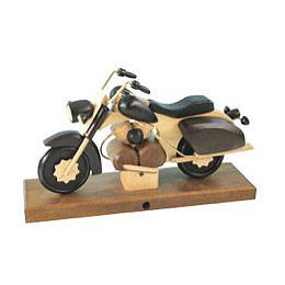 Smoker - Motorcycle Chopper Black 27x18x8 cm / 11x7x3 inch