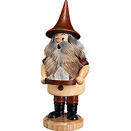 Smoker - Mountain Gnome with Quartz - 18 cm / 9.1 inch