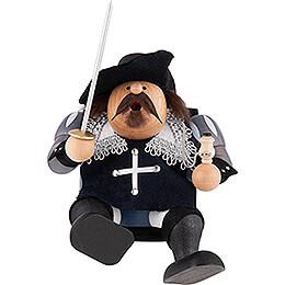 Smoker - Musketeer Porthos - Shelf Sitter - 16 cm / 6 inch