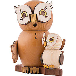 Smoker - Owl with Child - 15 cm / 5.9 inch