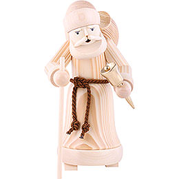 Smoker - Santa Claus Natural Wood - 25 cm / 9.8 inch