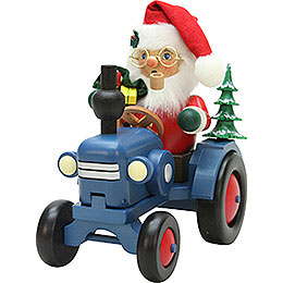 Smoker - Santa Claus on Tractor - 19,5 cm / 7.7 inch
