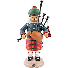 Smoker - Scotsman with Bagpipe - 27 cm / 11 inch