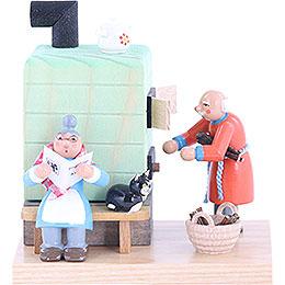 Smoker - Smoking Oven Grandmother and Grandfather - 10 cm / 4 inch